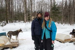 Me and Vince after dog sledding