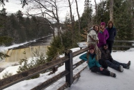 The family at Upper Tahquamenon Falls