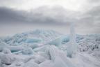Blue ice on Lake Superior