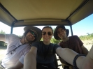 Caleb, me, and Jordi on the morning game drive
