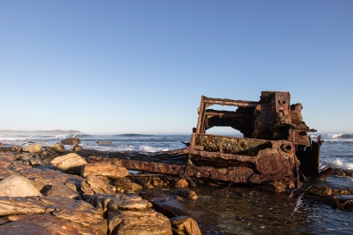 The wreck of the SS Thomas T Tucker