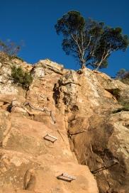 The rock scramble on Lion's Head