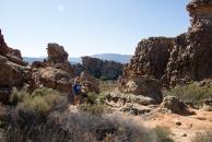 Caleb looking for rock art