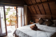 Inside our bungalow