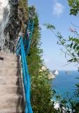 The steps to Peguyangan Waterfall