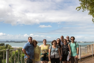 The group on our walking tour