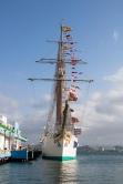 A Spanish navy ship