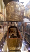A mummy in the Egyptian Museum