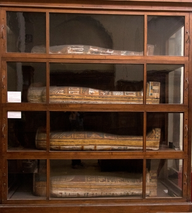 Coffins in the Egyptian Museum