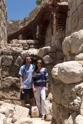 Caleb and me near the Ruins near the Roman Amphitheater