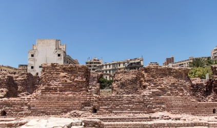 Ruins near the Roman Amphitheater