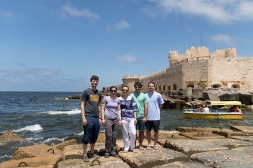 David, Bonnie, me, Vince and Caleb at the Citadel of Qaitbay