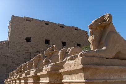 Avenue of sphinxes at Karnak