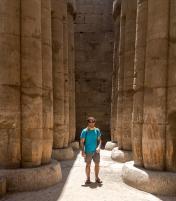 Columns in Luxor Temple