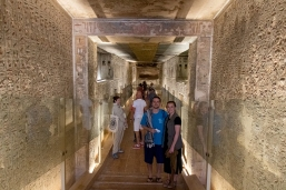 Caleb and me in the Tomb of Ramses IX