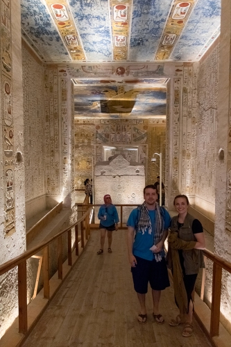 Caleb and me in the Tomb of Ramses IV