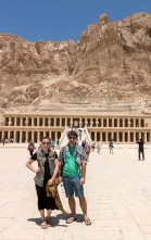 Me and Vince at the Temple of Hatshepsut