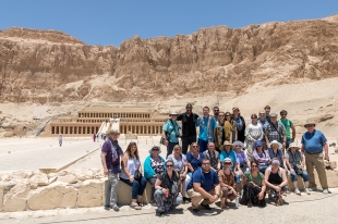 The entire group at the Temple of Hatshepsut