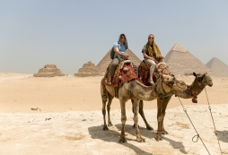 Vince and me on our camels