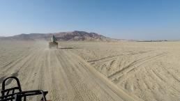 Caleb ahead of us on his quad