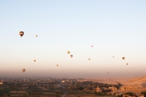 Hot air ballooning over Luxor