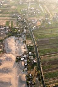 Hot air ballooning over Luxor