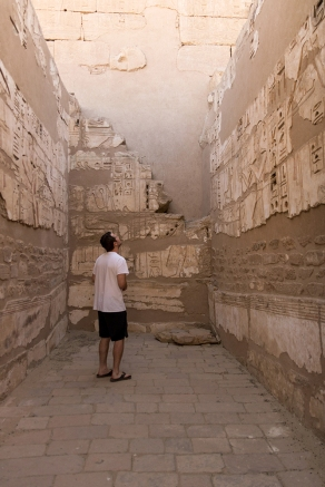 Caleb in Habu Temple