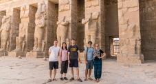 Caleb, Bonnie, David, Vince, and Me in Habu Temple