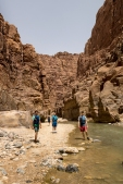 Vince, Caleb, and David as we enter Wadi al Mujib