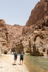 Bonnie and me as we begin our hike in Wadi al Mujib