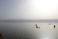 Everyone floating in the Dead Sea