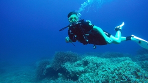 Me diving in Mallorca