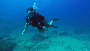 Vince diving in Mallorca