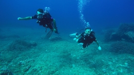 Vince and me diving in Mallorca