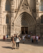 Vince and me at the Barcelona Cathedral