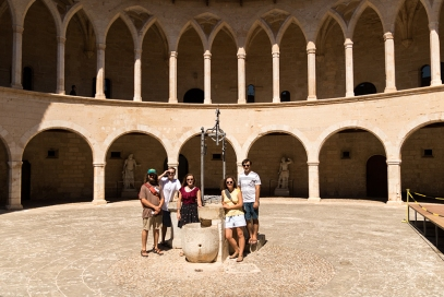 The group at Castell de Bellver