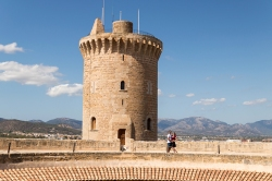 Vince and me at Castell de Bellver