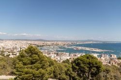 The view of Palma from Castell de Bellver