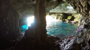 Inside the sea cave
