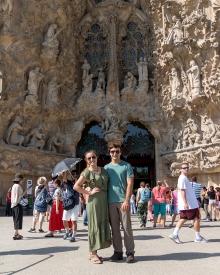 Me and Vince at La Sagrada Família