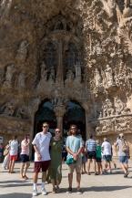 Cakeb, me, and David at La Sagrada Família