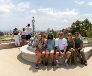 Courtney, David, Caleb, me, Vince at Park Güell