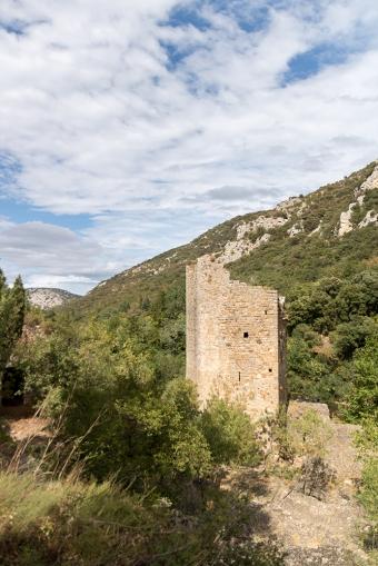 The tower near Saint-Guilhem-le-Désert