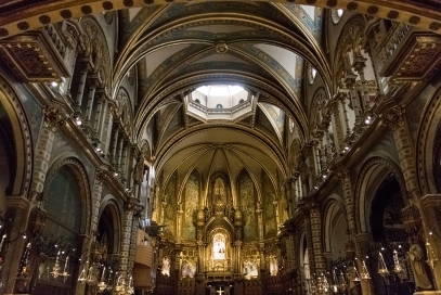 Inside the Abbey of Montserrat