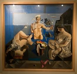 """Composició amb tres figures. Acadèmia neocubista"" by Salvador Dalí"