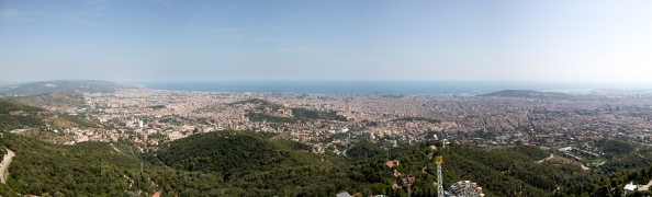 The view of Barcelona from the Temple of the Sacred Heart of Jesus